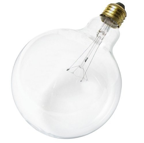Satco 60G40 Incandescent Globe Light, 60W E26 G40, Clear Bulb [Pack of 6]