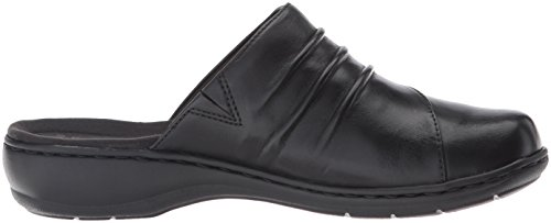 Black Clarks Women's Mule Bliss Leisa Leather FF8qp7n