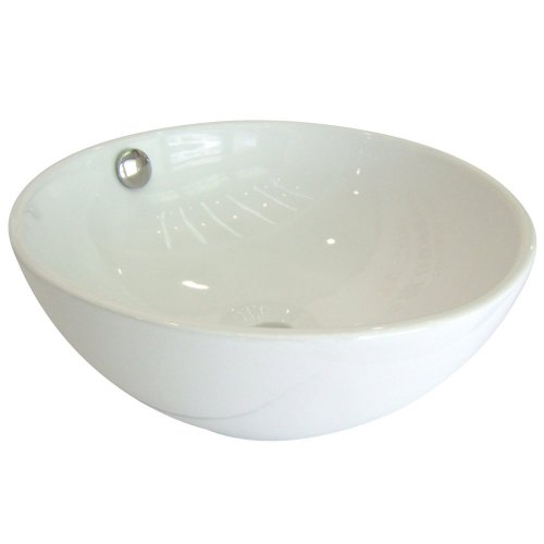 delicate Kingston Brass EV7048 Fauceture Le Country China Undermount Bathroom Sink, White