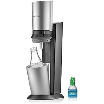 SodaStream Crystal Sparkling Water Maker Starter Kit, Black and Silver