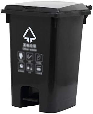 滑らかな表面 工場のごみソートボックス、パティオ、庭用防水簡単にクリーン・ペダルタイプビンのリサイクルごみ箱耐久性に優れたデザイン リサイクル可能なデザイン (Color : Gray, Size : 44*53*72CM)