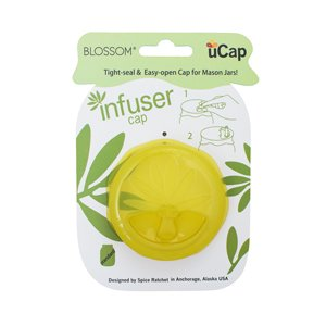 Mason and Canning Jar, Oil Infuser Lid Cap, Silicone, For