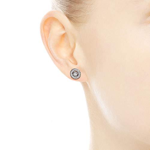 PANDORA Vintage Allure Stud Earrings, Sterling Silver, Clear Cubic Zirconia, One Size