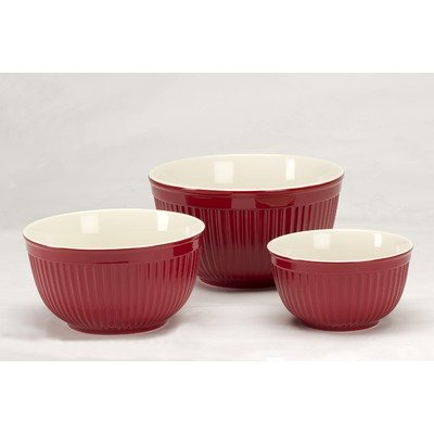 Simsbury Mixing Bowls (Set of 3) Color: Red