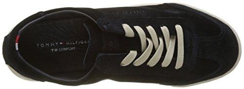 Tommy Hilfiger Casual Suede Low Cut Sneaker, Scarpe da Ginnastica Basse Uomo Blu (Midnight 403)