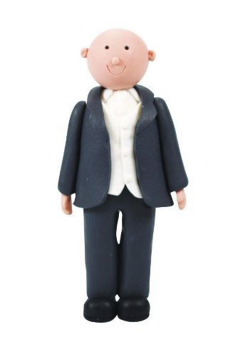 Culpitt GROOM BALD 125mm Claydough Cake Topper Decoration Figurine Wedding