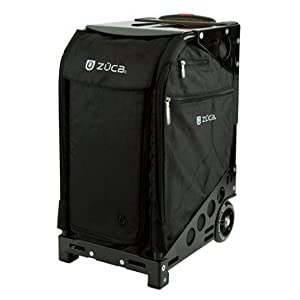 ZUCA Pro Artist Case Black Insert Bag in Black Frame with Built in Seat, with Travel Cover and 4 Vinyl Utility Pouches