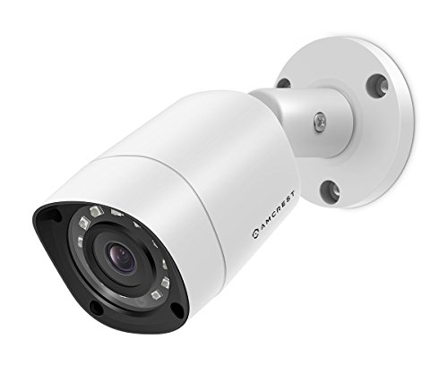 Amcrest UltraHD 4MP HD-Analog 1520P 2688TVL Bullet Outdoor Security Camera, 4MP 2688×1520, 65ft Night Vision, IP67 Weatherproof, 99.7° Viewing Angle, White (AMC4MBC28-W)