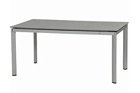 MWH Fabulo Stapelsessel, Aluminium, silber/hellgrau, 64.5 x 61.5 x 98 cm, 879481