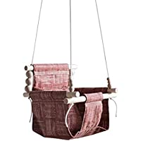Indoor/Outdoor boho nursery decor, rust color, baby toddler fabric swing