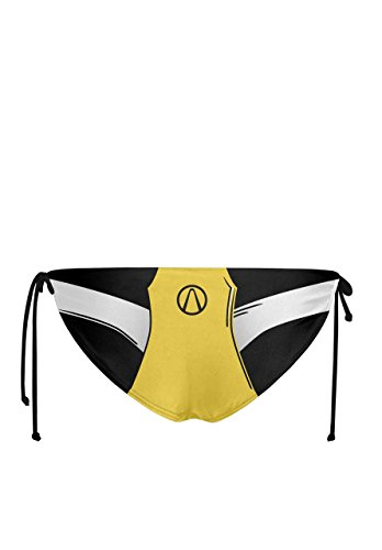 Musterbrand Borderlands Bikini Damen Claptrap Badeanzug Set Zweiteilig Gepolstert Gelb