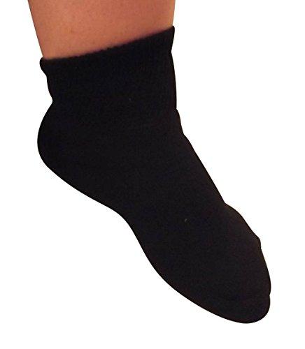 Diabetic Black Ankle Cotton Womens product image