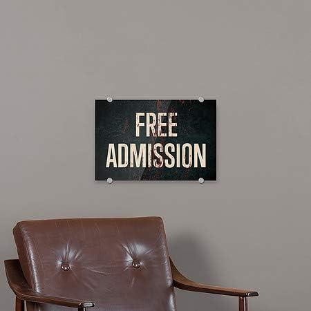 18x12 Stripes White Premium Acrylic Sign CGSignLab 2465202/_5absw/_18x12/_None Free Admission
