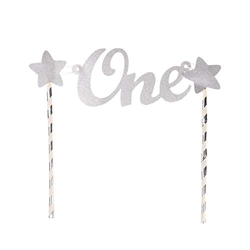 Cake Decorating Supplies - Creative Baby 1st Birthday Cake Per One Letter Stars Pers Straws Shower Smash Decorations 4colors - 60pcs Russian Camping Large Stand Edible Storage Pieces Cand