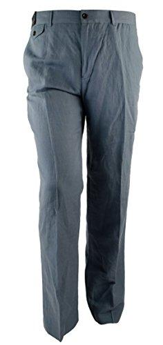 Polo Ralph Lauren Men's Classic-Fit Linen Brand Flat Front Pants (30W X 30L, Blueberry) ()