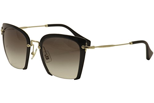 Miu Miu Women's Cut Frame Sunglasses, Black/Grey, One - Sunglass Miu Miu