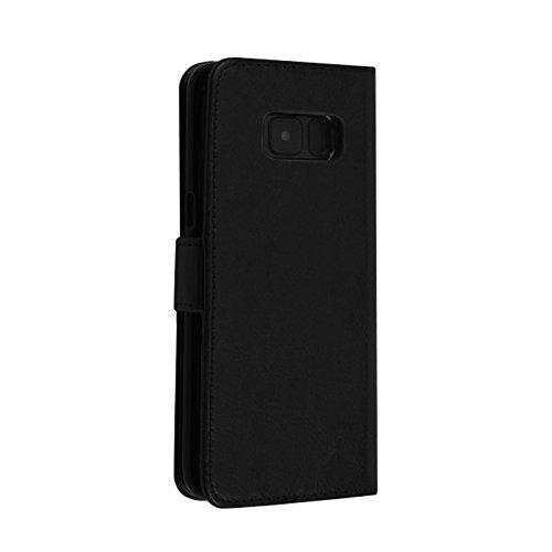 Merssavo Para Samsung Galaxy S8 Plus Funda de la Caja de la Tarjeta de Cuero Magnético Extraíble - Marrón Negro