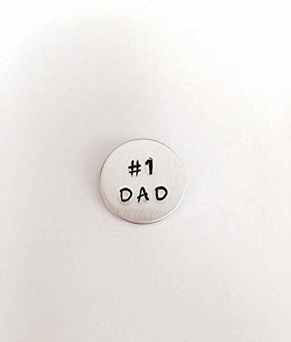Dad tie tack - tie pin - Father - best dad - #1 dad tie tack - handstamped