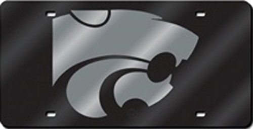 Kansas State Wildcats Collectibles (NCAA Kansas State Wildcats Laser Cut License Plate, Black/Silver)