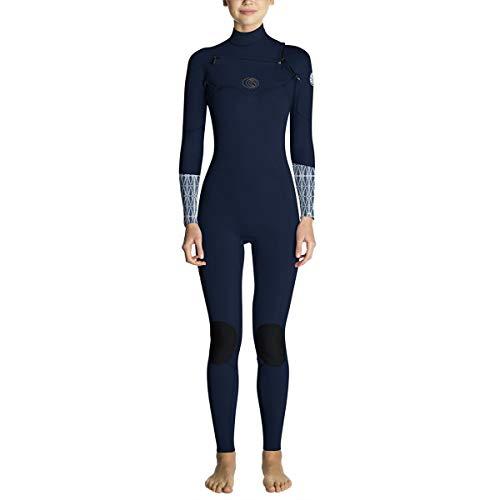Rip Curl Women's Flash Bomb 3/2 Chest Zip Wetsuit, Blue, 8 (Rip Curl Flash Bomb Wetsuit)