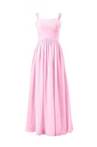 Bridesmaid ice DaisyFormals Long BM800L Dress with 20 Straps Formal Women Sweetheart Dress Pink qXZX1Hw