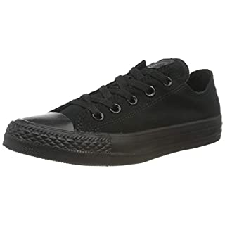 Converse Unisex Low TOP Black Mono Size 6.5 M US Women / 4.5 M US Men