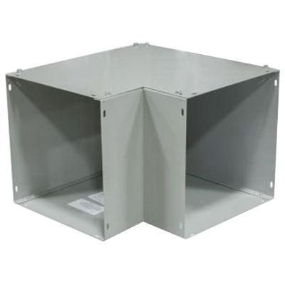 Milbank 44L90S 90 Degree Top Access Elbow 4 Inch x 4 Inch Steel ANSI 61 Gray Polyester Powder Coated