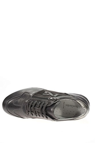 A604331U-101.Sneaker in pelle e camoscio.Antracite.41
