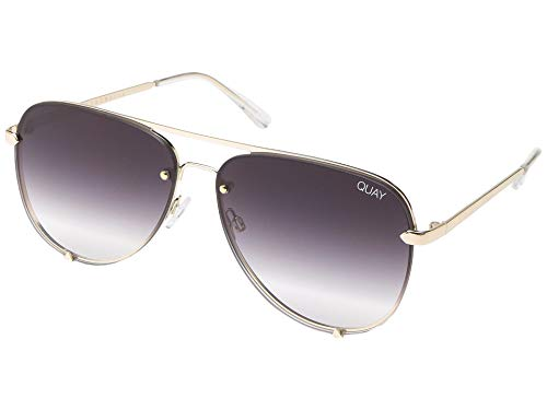 Quay Australia X Desi Perkins HIGH KEY RIMLESS Sunglasses in Gold Fade, Womens, One ()