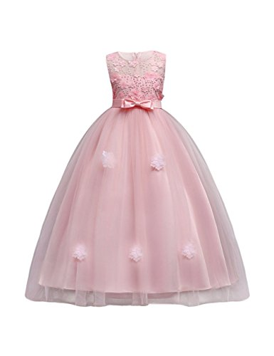 aibeiboutique Flower Girl Dresses Pageant Princess Bridesmaid Dress for Wedding First Communion (15-16 Years/Tag 170, -