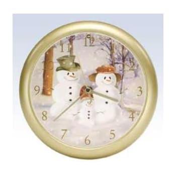 Snow Family Musical Christmas Carol Sound Clock