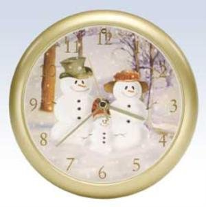 Snow Family Musical Christmas Carol Sound Clock