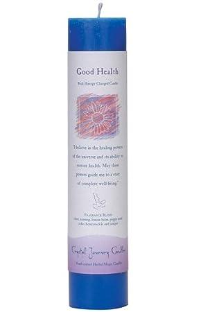 Candle Pillar Good Health Crystal Journey
