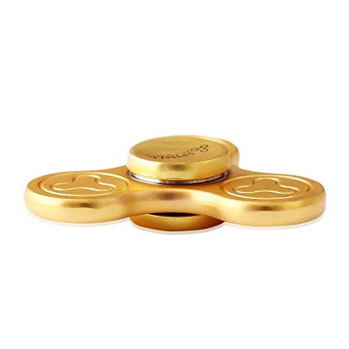 FIDGET FINGER HAND SPINNER PREMIUM GOLD TRI CYCLONE EDC FOCUS STRESS ANXIETY