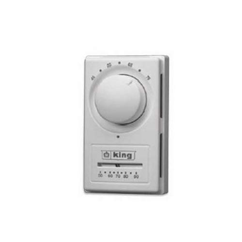 King Electric HET-1R Euro Anticipated Single Pole Line Voltage Thermostat 22A ()