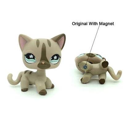 Amazon.com: #468 Littlest Pet Shop gris pelo corto gato ...