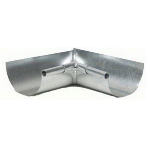 AMERIMAX HOME PRODUCTS LIS265 5-Inch Galvanized Inside Mitre - Round Gutter