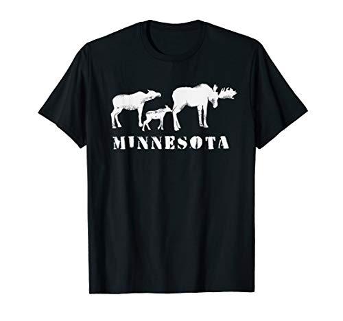 Minnesota Shirt | MN Moose Family t-shirt
