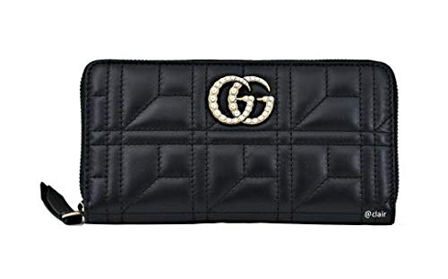 Gucci Black Shanghai Leather Wallet Guccissima style Box New Italy ()