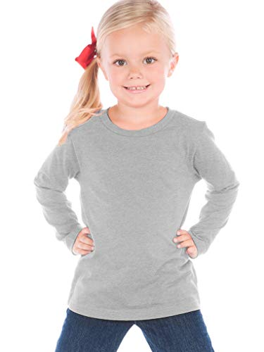Kavio! Toddlers Crew Neck Long Sleeve Heather Gray 3T