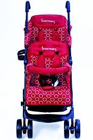 Kinderwagon Tandem Umbrella Stroller - Red by Kinderwagon
