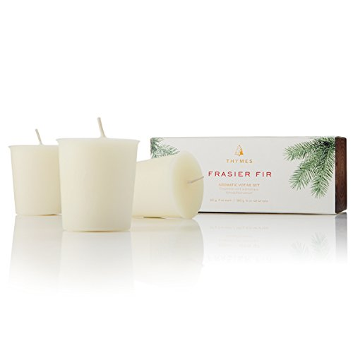 Thymes - Fragrant Frasier Fir Votive Candle Refill, 15-Hour Burn Time - 2 Ounces, Set of 3