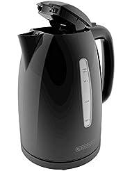 BLACK+DECKER KE1500B 1.7L Rapid Boil Electric Cordless Kettle, Black