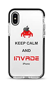 Stylizedd iPhone XS Max Cover Impact Pro Black Military Grade Shockproof Case -Keep Calm And Invade