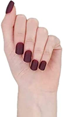 MISUD Colorful Square Fake Nails 96 Pcs Short Matte Acrylic Press On Beauty Artificial False Gel