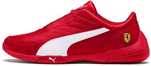 PUMA Ferrari Kart CAT Sneaker, White-Rosso Corsa, 4 M US ()