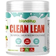 Blenditup Clean Whey Protein, 30 Servings - Premium Protein for Absorption, Muscle Growth and Mix-Ability. No Sugar, Flavorless, Gluten-Free, and Mixes with Any Drink or Recipe