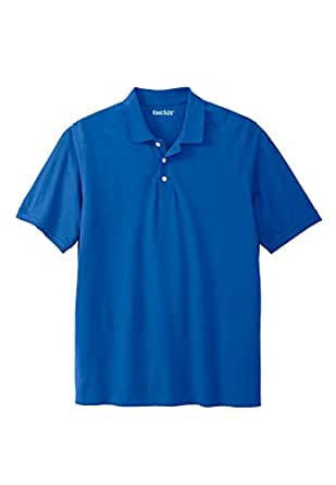 KingSize Men's Big & Tall Solid Pique Polo Shirt, Royal Blue Tall-L