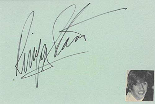 - Ringo Starr Signed Authentic Autographed Full Signature 4x6 Green Index Card JSA #Z68525