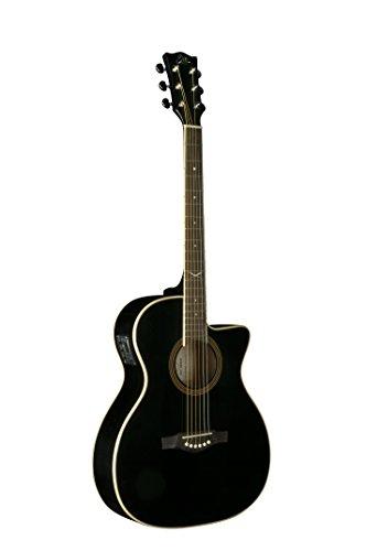 EKO Guitars 06217024 NXT Series Auditorium Cutaway Acoustic-Electric Guitar, Black